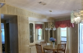 Dining Area with builtin cabinetry