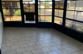 Screened Lanai with tile flooring