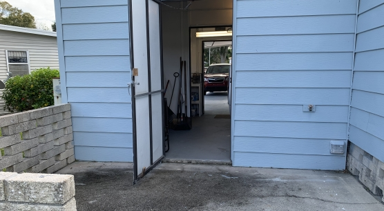 rear entrance- shed